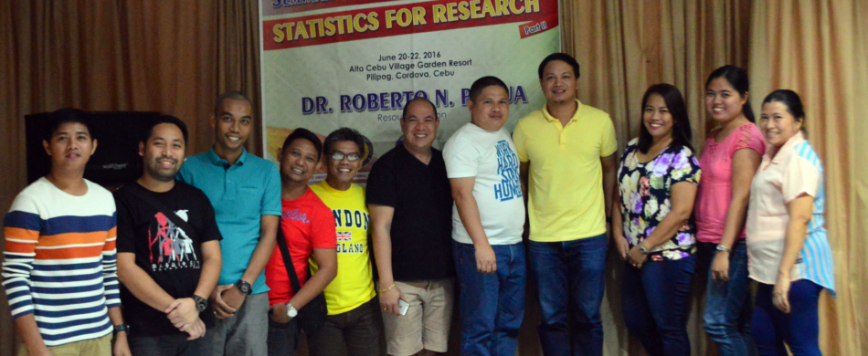 RDE Staff attends a Seminar-Writeshop on Statistics for Resesarch