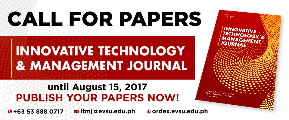 CALL FOR PAPERS for INNOVATIVE TECHNOLOGY & MANAGEMENT JOURNAL